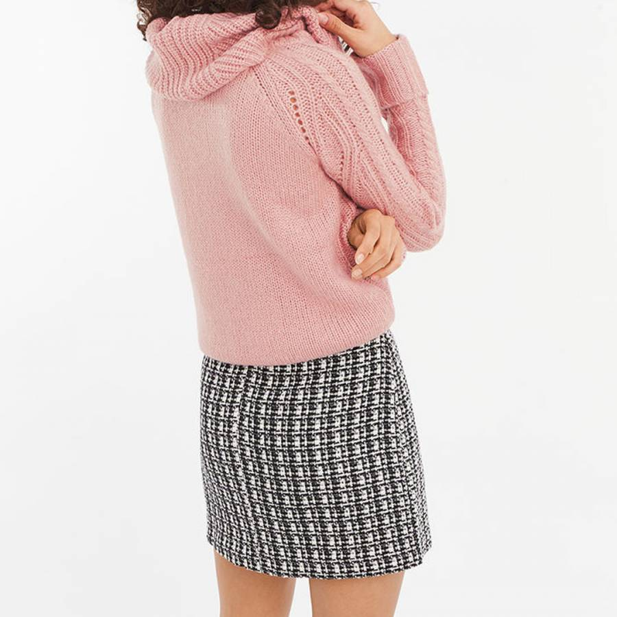 Pale Pink Heidi Brushed Cable Cowl Neck Jumper BrandAlley