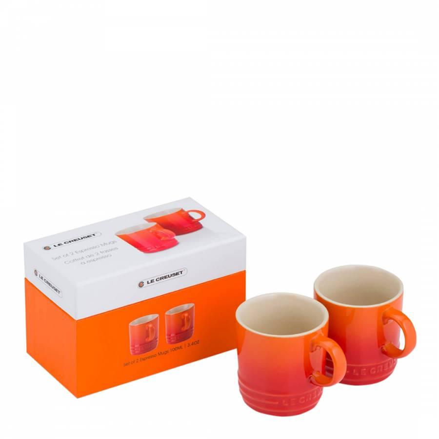 Set of 2 Espresso Mugs Volcanic