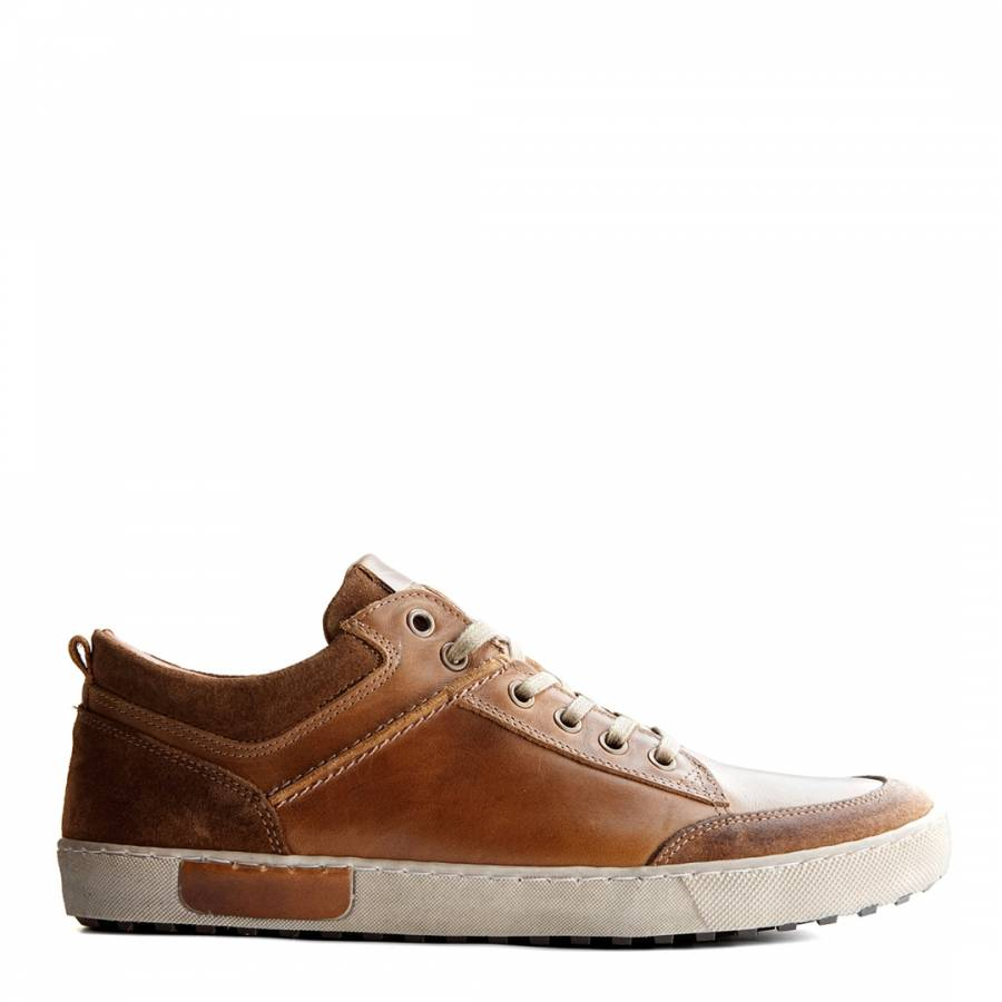 ac1d078bfe1c27 Cognac Leather Aberdeen Low Sneakers - BrandAlley