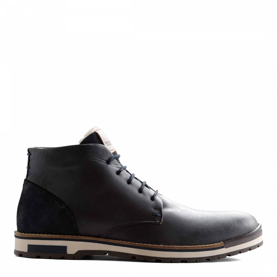 2543afb2092cc5 Blue Leather Helsingborg Boots - BrandAlley