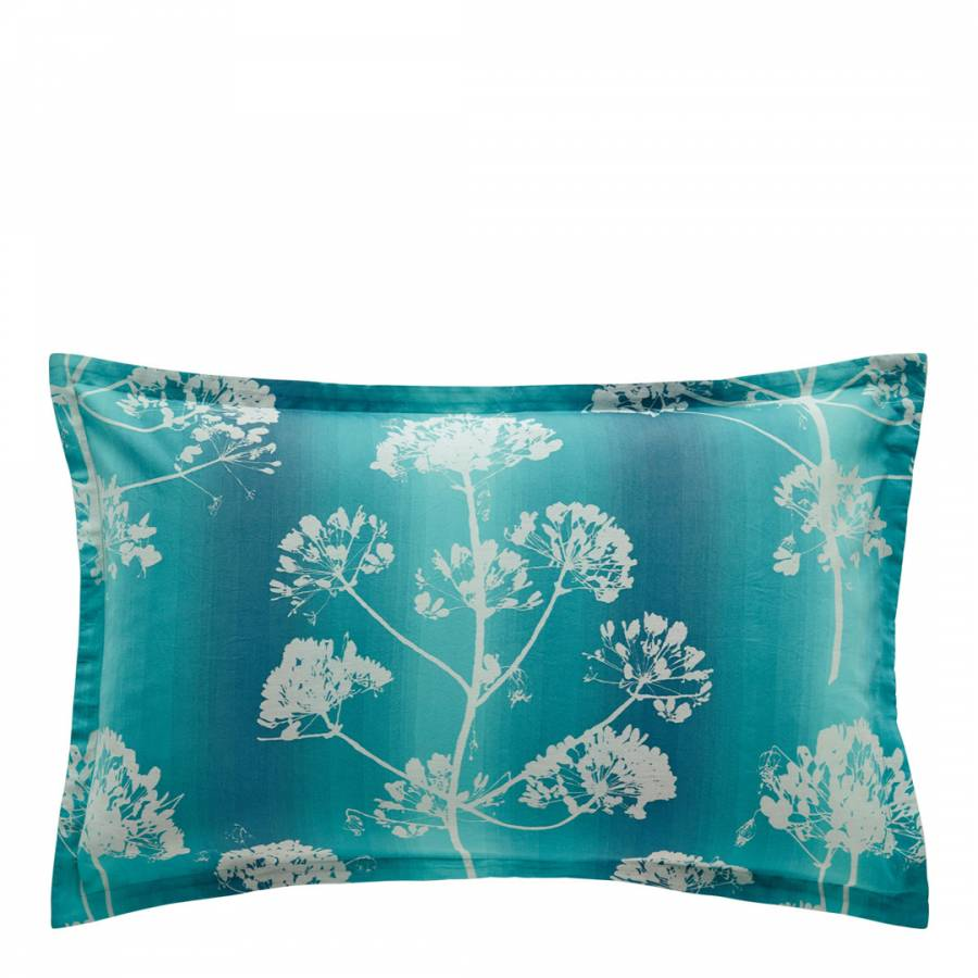 Image of Angeliki Oxford Pillowcase Ocean