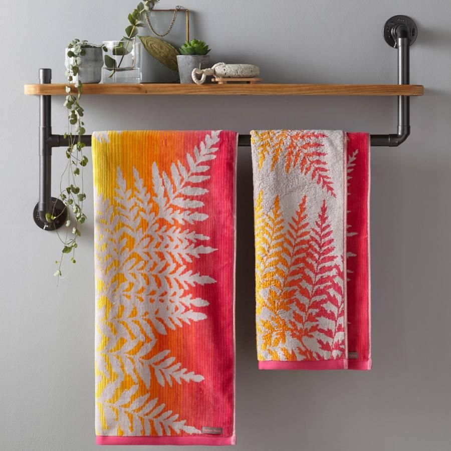 Image of Filix Bath Towel Coral
