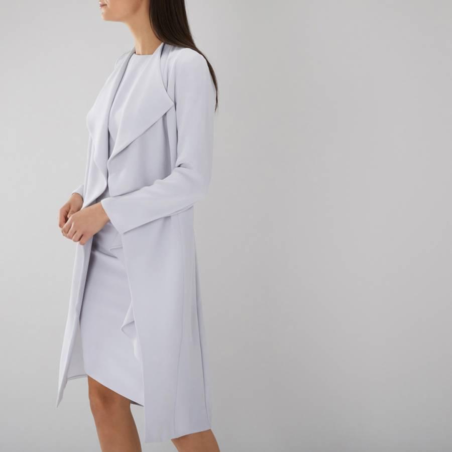 Womens COAST Grey Shanie Drape Jacket NEW