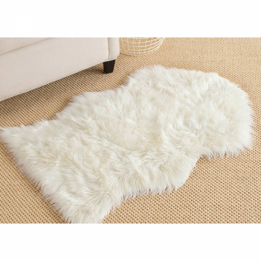 Ivory Madison Shag Rug 91x152cm Brandalley