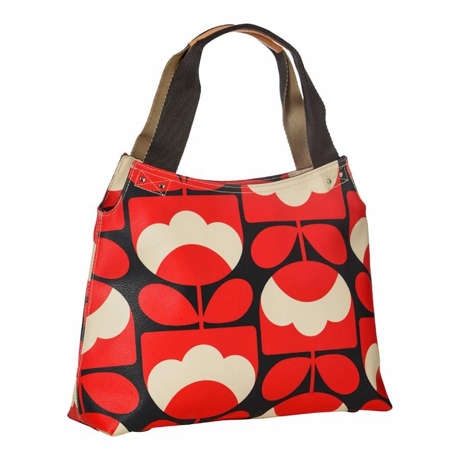 Ruby Red Spring Bloom Vinyl Classic Zip Shoulder Bag - BrandAlley 3bed9044d1c11