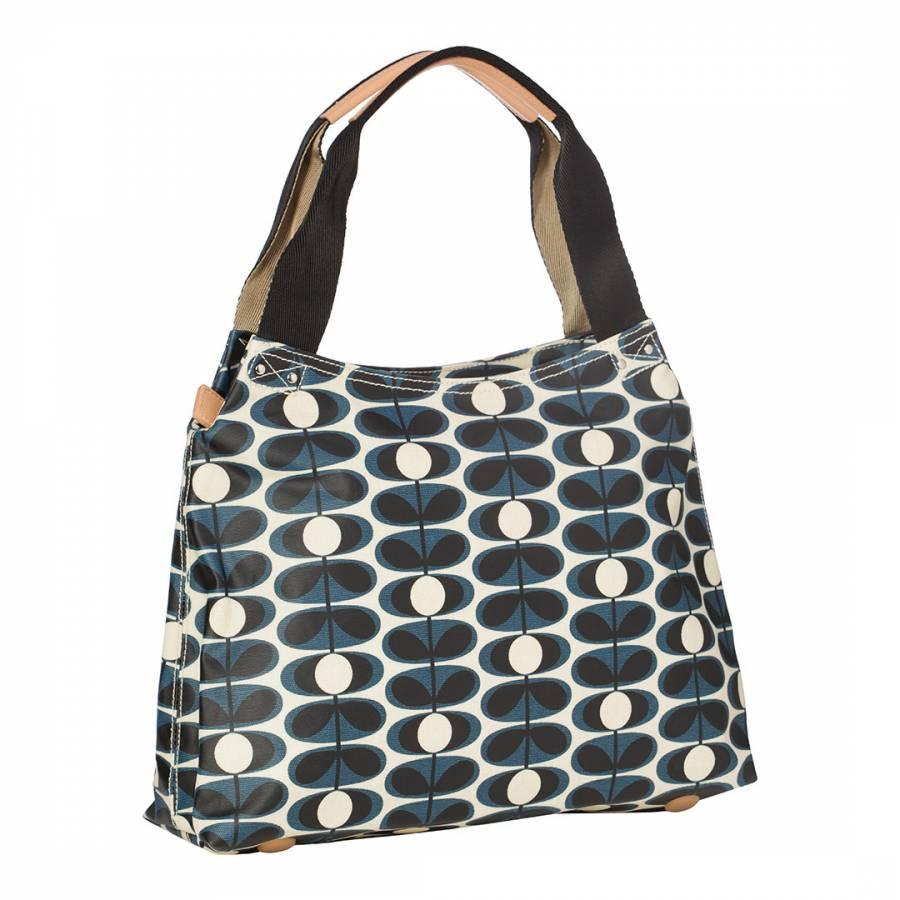 3dacc37b8690 Indigo Flower Oval Classic Zip Shoulder Bag - BrandAlley