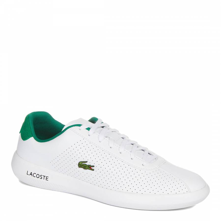 6aa2f145a822 White   Green Avance Low Classic Trainers - BrandAlley