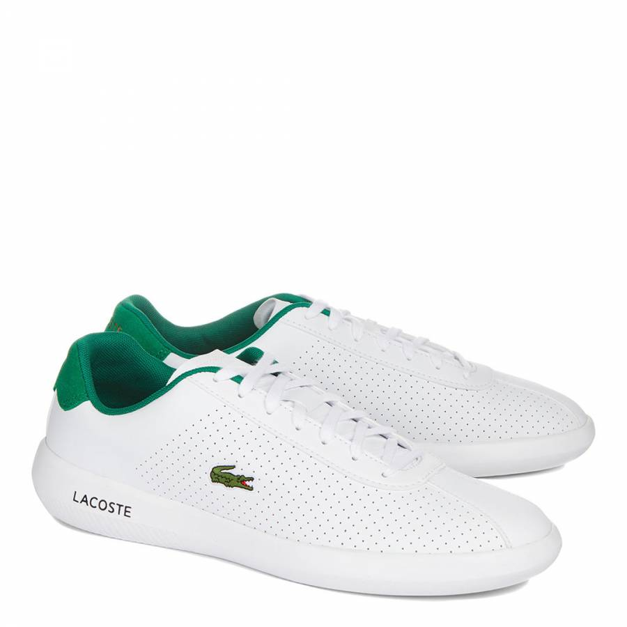 37162c9ddaca White   Green Avance Low Classic Trainers - BrandAlley