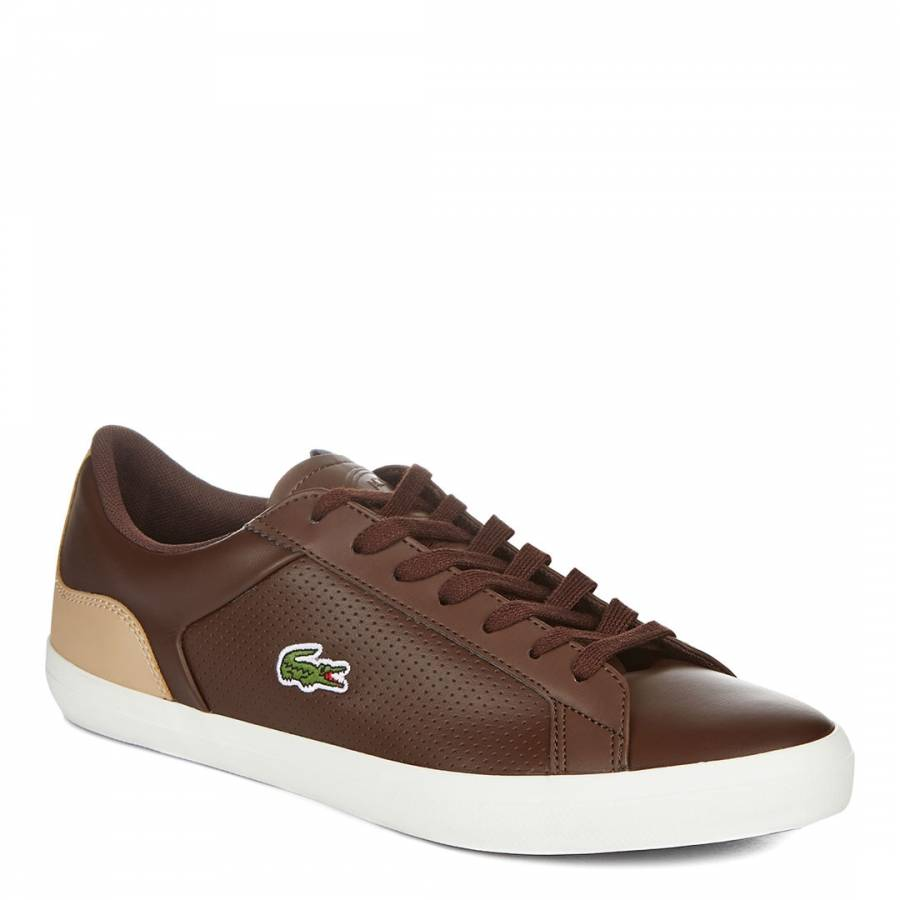 cfea0164799e8 Brown Leather Lerond 418 Low Trainers - BrandAlley