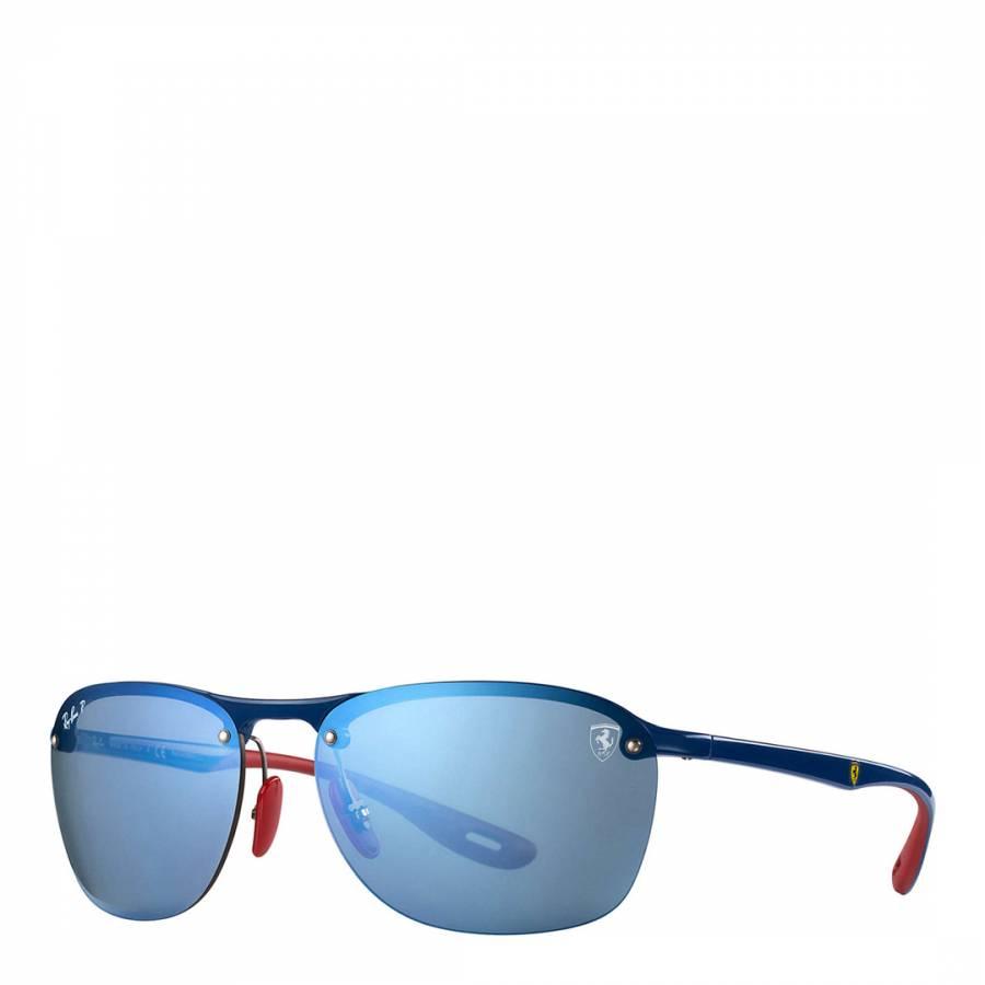 16612272cc Men s Blue Scuderia Ferrari Collection Sunglasses 62mm - BrandAlley