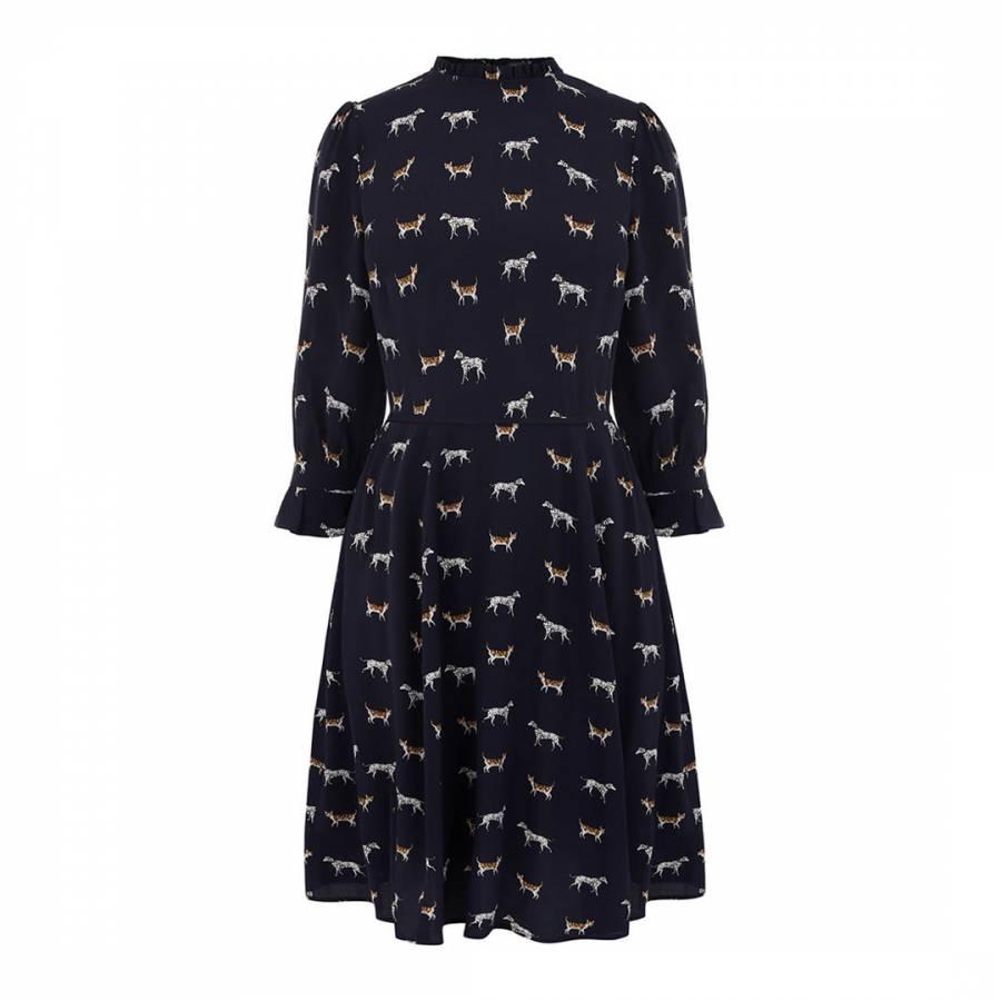 87566e6764 Black White Animal Skater Dress - Women s Dresses and Jumpsuits ...