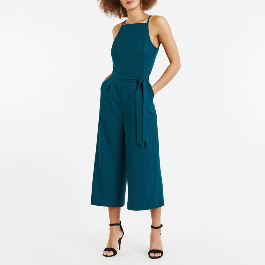 b763033049a2 Deep Green Lace Back Jumpsuit - BrandAlley