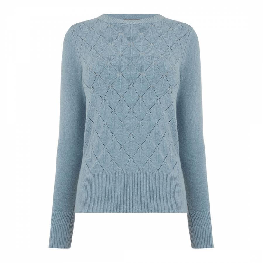 5983a20e6292 Mid Blue Blair Stitch Jumper - BrandAlley