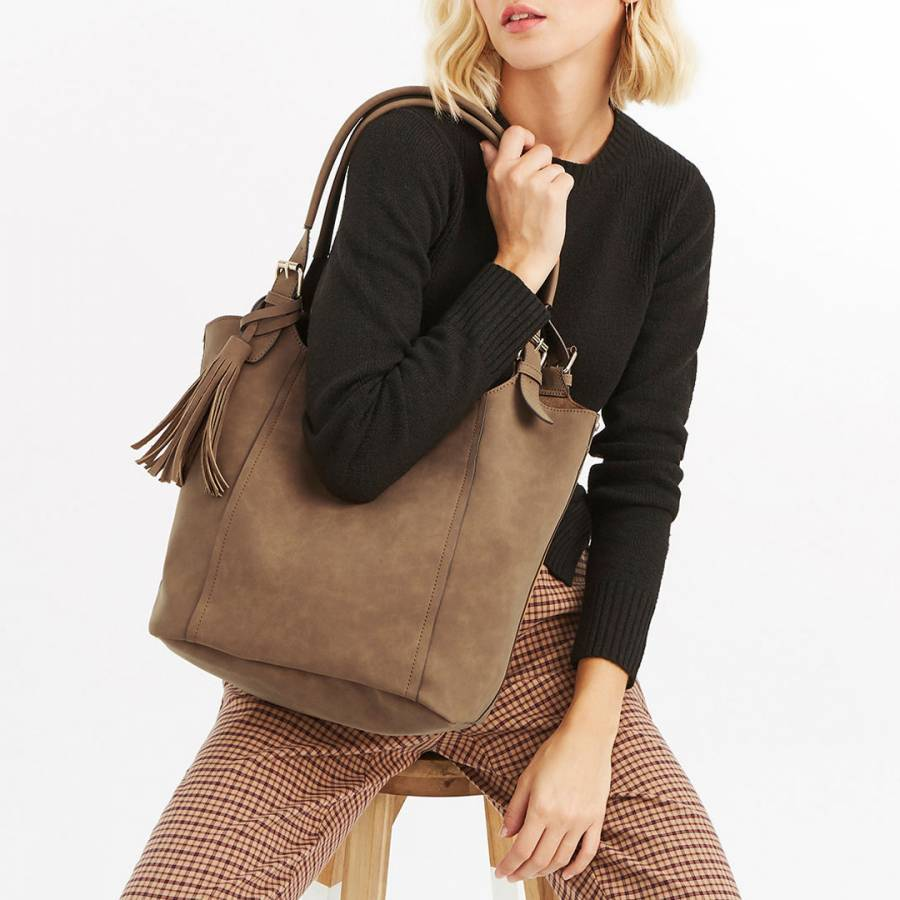 3b911dbba9f5 Tan Frankie Tote Bag - BrandAlley