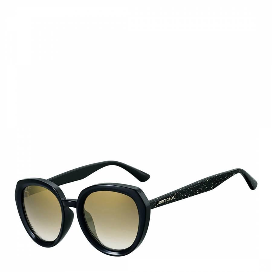 142d41153da4 Jimmy Choo Women s Black Gold Glitter Brown Gold Shaded Mace Sunglasses 53mm.  prev. next. Zoom