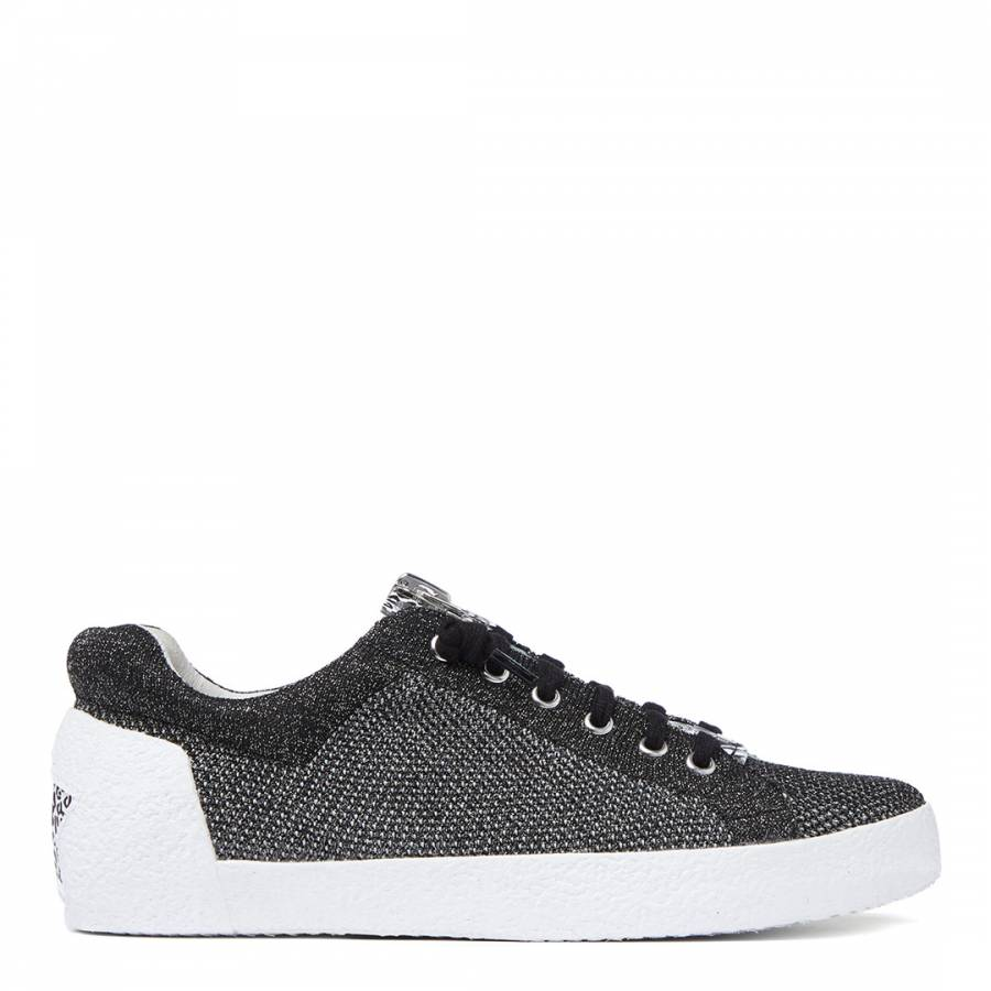 Image of Black Silver Knit Nirvana Sneaker
