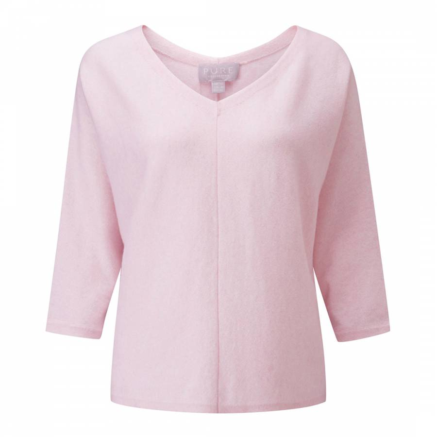 Pure Collection Rose Mist Cashmere Wide Sleeve Sweater 959ffaa4f