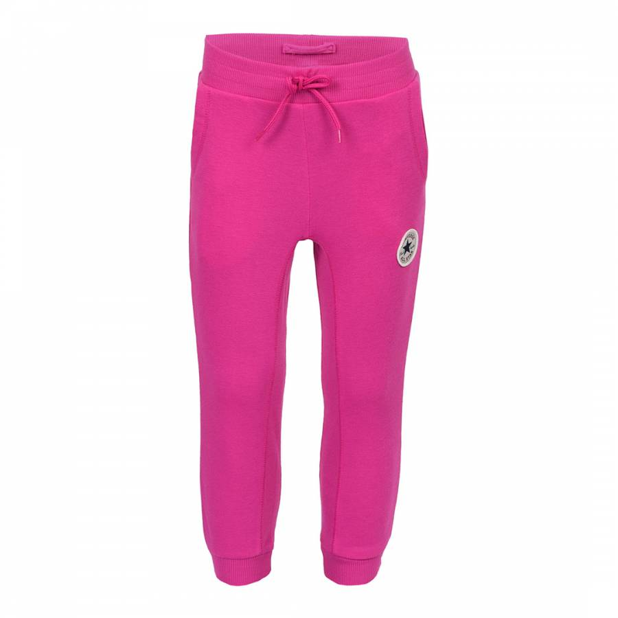 Image of Pink Rib Paneled Capri Joggers