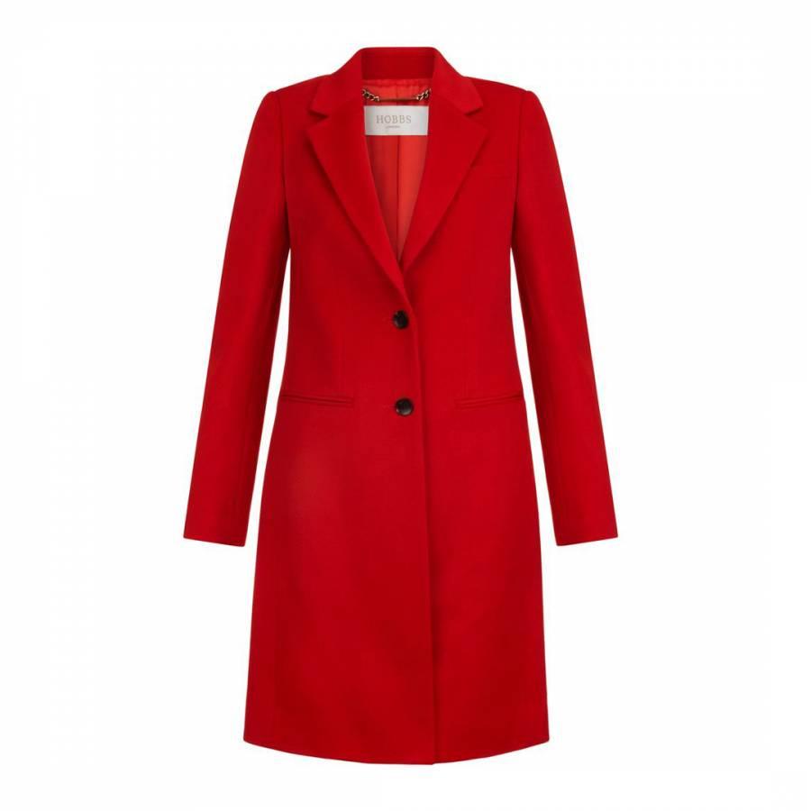 Red Tilda Wool Coat - BrandAlley d51dd9eae