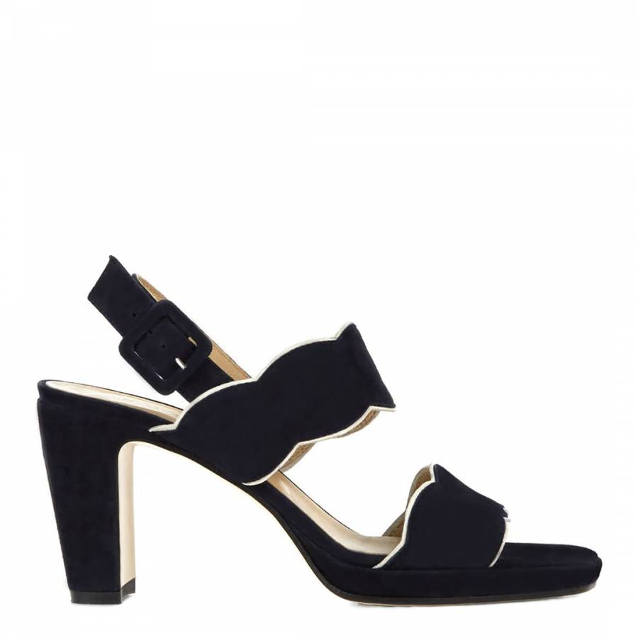 74e45132f61c Hobbs London. Navy   White Suede Kate Scallop Heel Sandals. £60.00 Was  £159.00 62% Off. Rose Gold Leather Keelia Mule Sandals