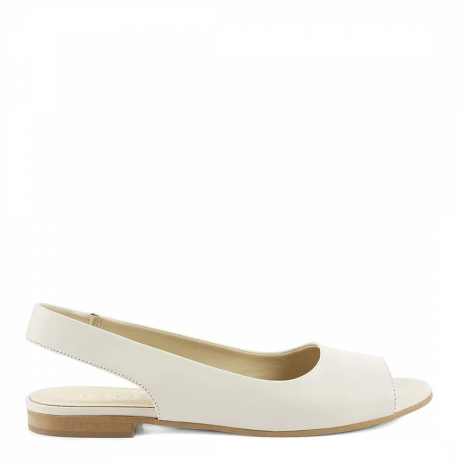 83c536b5e91b4 Hobbs London Ice White Leather Caitlyn Sandals