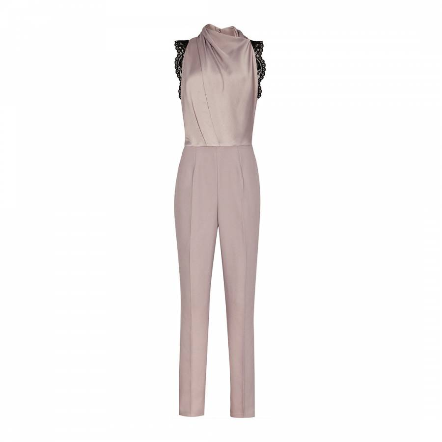 be81cfb0f65a Ash Kita Lace Back Jumpsuit - BrandAlley