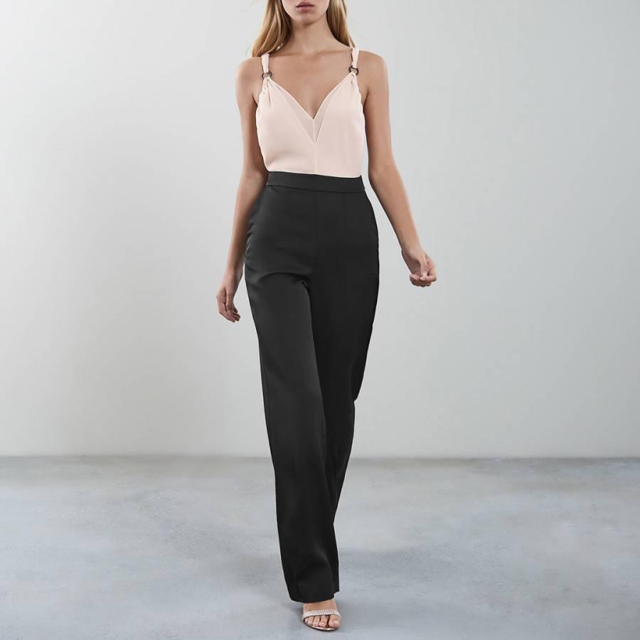 009fbf3c10 Black Pink Rocco Tie Strap Jumpsuit - BrandAlley