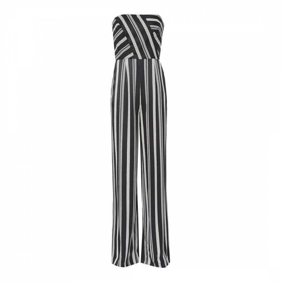5f0832ecb4 Black White Vienna Striped Jumpsuit - BrandAlley