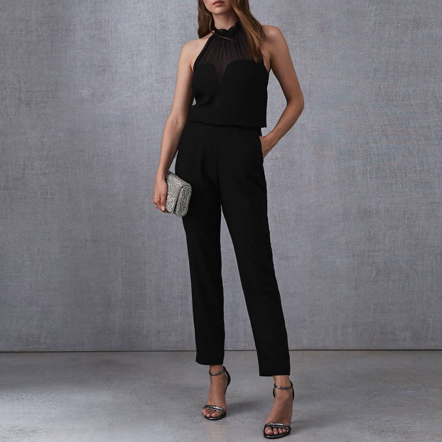 744d9920a3 Black Prisca Halterneck Jumpsuit - BrandAlley