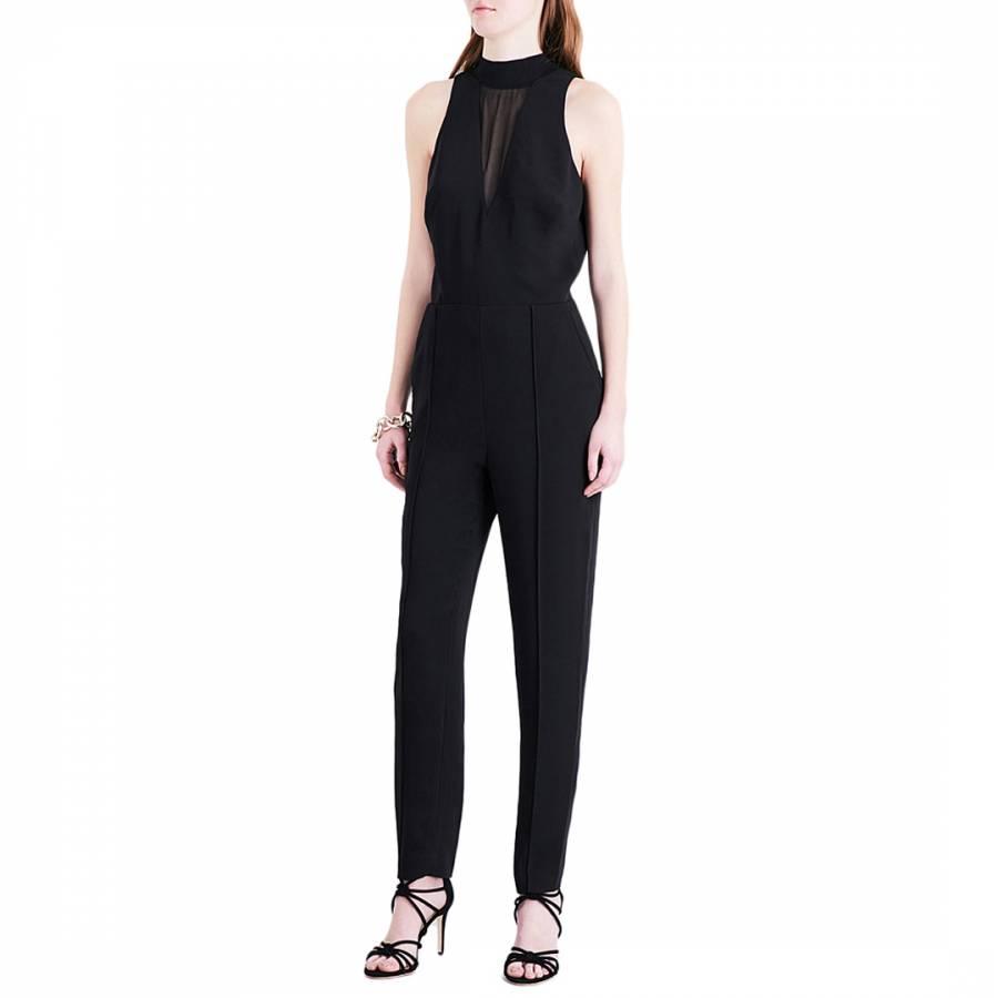 e1bc755b6f Black Rose Mesh Crepe Jumpsuit - BrandAlley