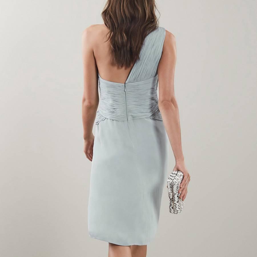 686abd48f0 Pale Sage Abby One Shoulder Dress - BrandAlley