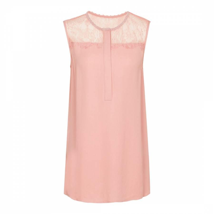 Pink Reiss Womens Jorja Silk Top 6