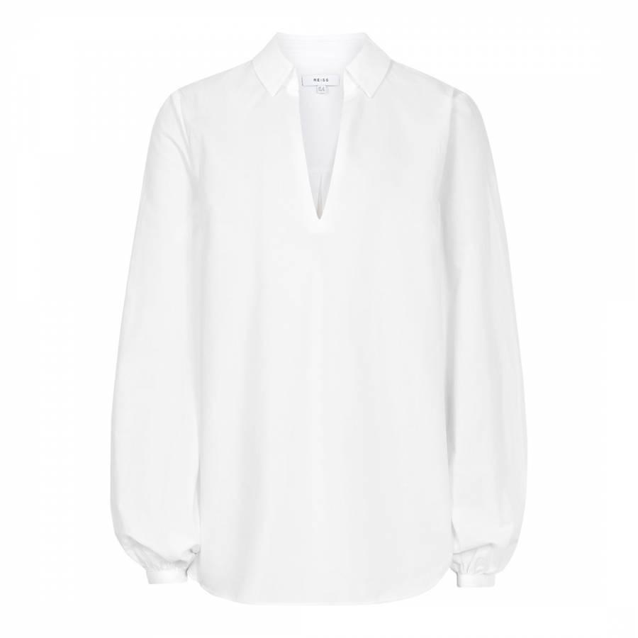 470beaec Off White Veronica Cotton Blouse - BrandAlley