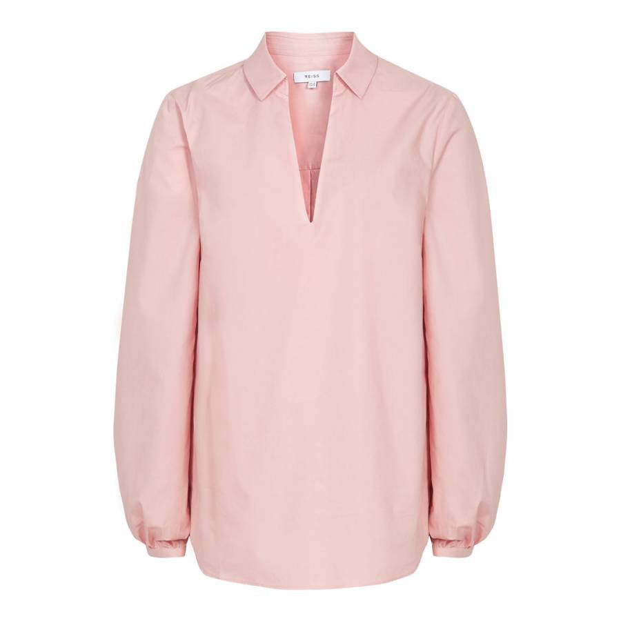 b2dfeabd Pale Pink Veronica Cotton Blouse - BrandAlley