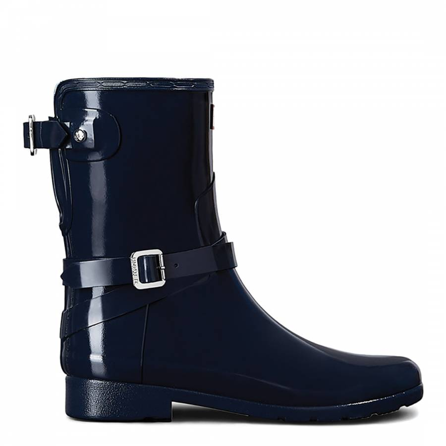 0ae9854aae5cd Navy Refined Adjustable Short Gloss Boots - BrandAlley
