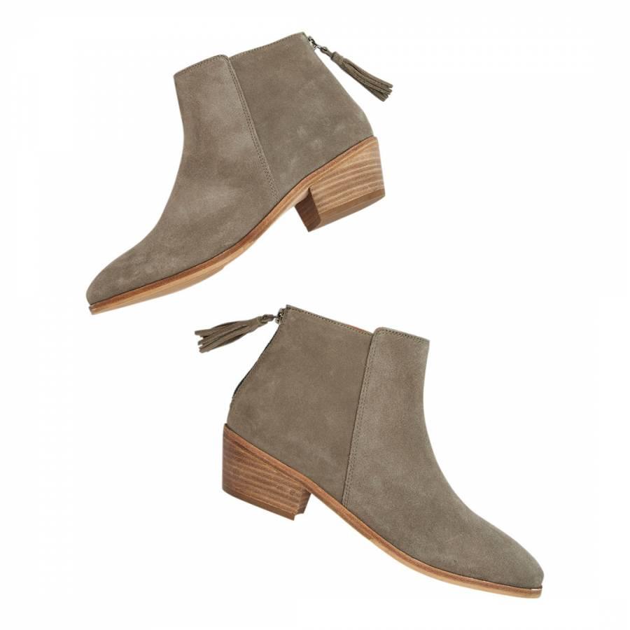 b39586c0d22b Light Grey Langham Leather Ankle Boot - BrandAlley