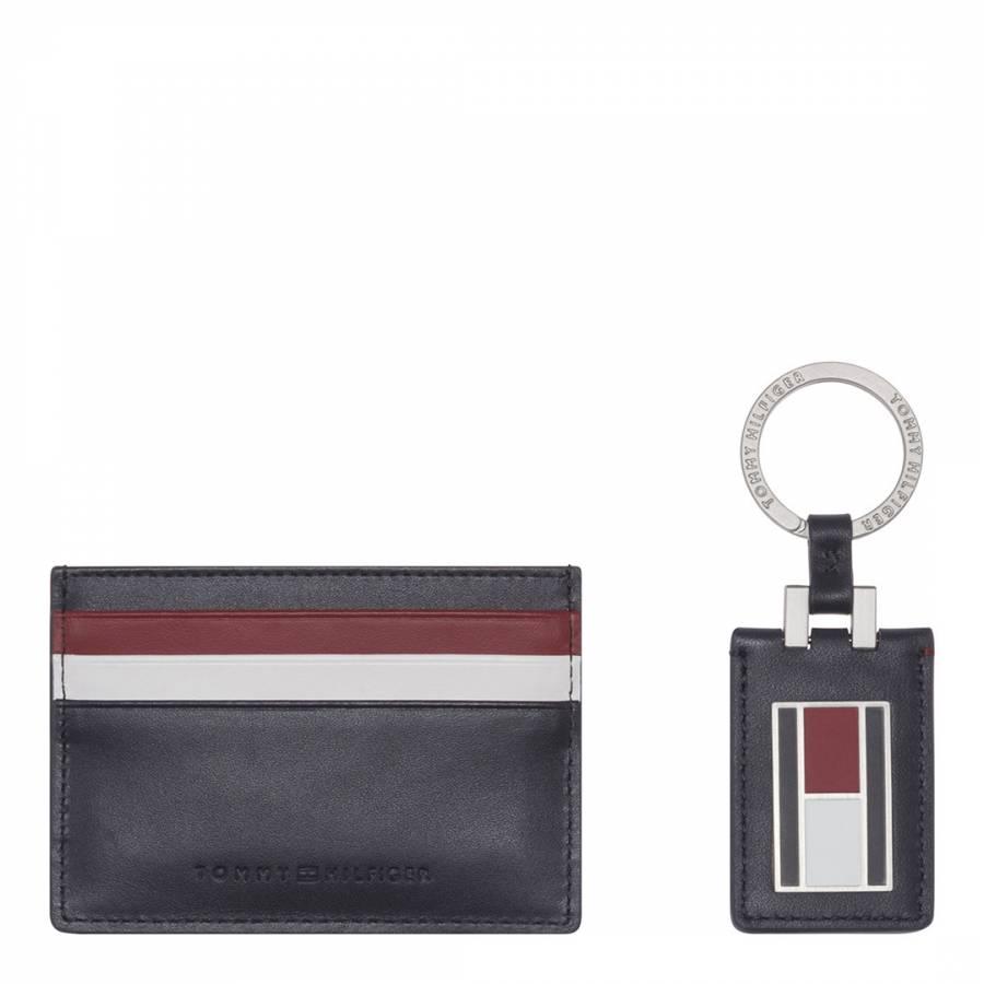 e10e005e1c98a2 Tommy Hilfiger Blue Corporate Card Holder and Keyfob Box