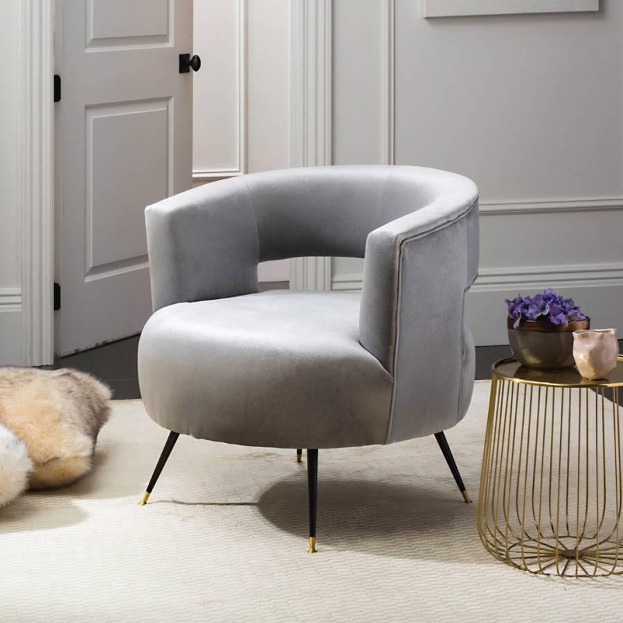 Vega Accent Chair, Light Grey - BrandAlley