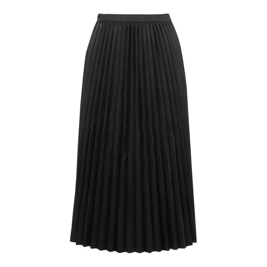 54db36f161 Warehouse Black Faux Leather Pleated Skirt. prev. next
