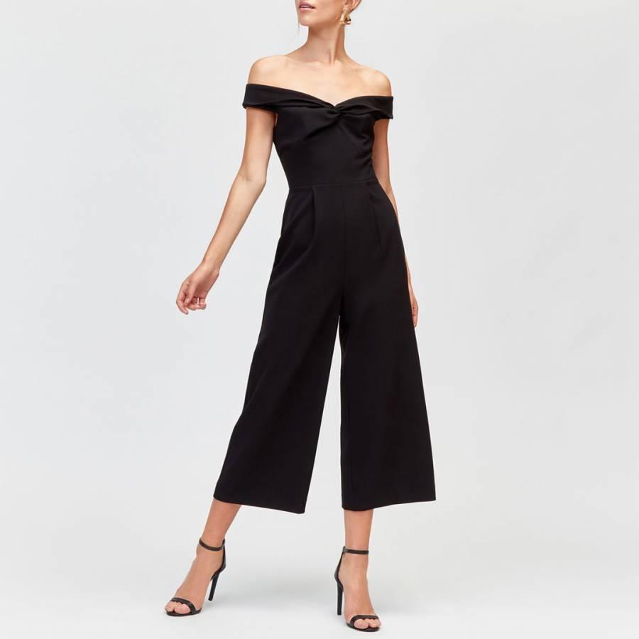 2b8a753a14 Black Bardot Jumpsuit - BrandAlley