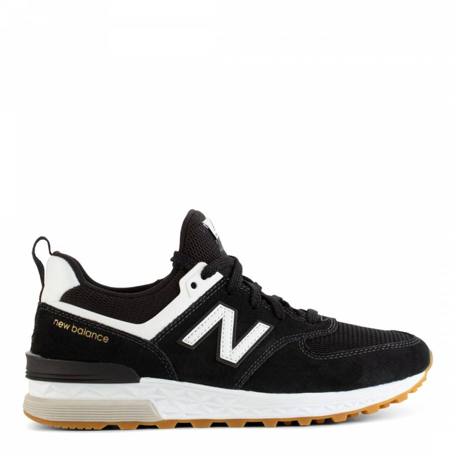 a3b8caa6a Black Suede & Mesh 574 Sport Sneakers - BrandAlley