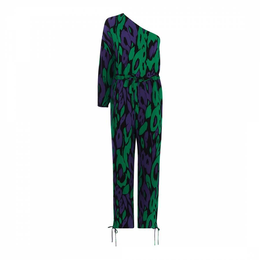 03a28a62cf Green Blue Animal Print Jumpsuit - BrandAlley