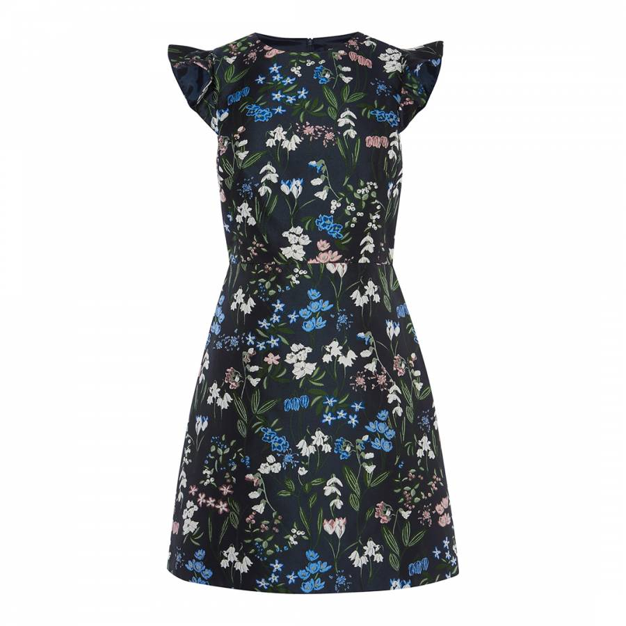 bb3a42a8c4 Karen Millen Multi Botanical Floral Jacquard Dress