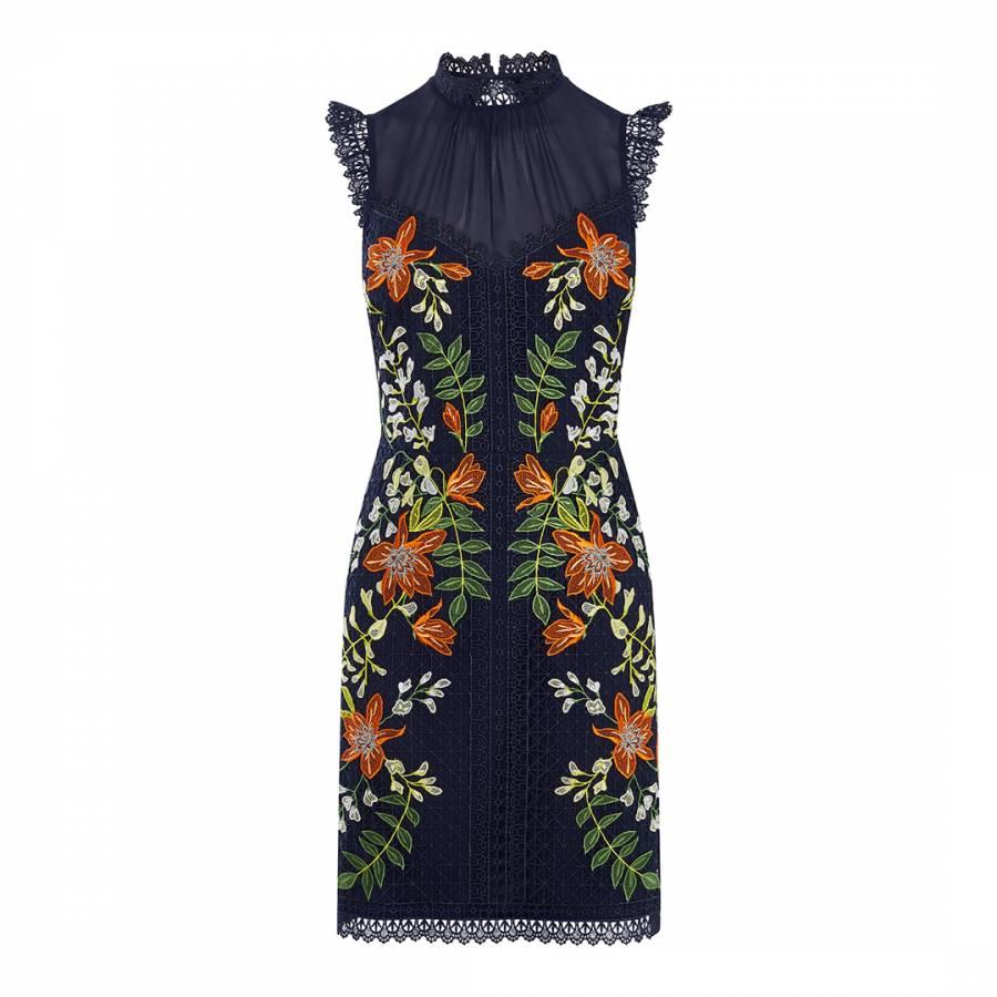 ebddb8cf0f Karen Millen Navy Wisteria Lace Dress. prev. next. Zoom