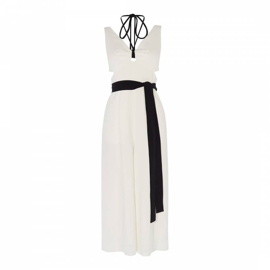 1429db83b0 White Cut Out Jumpsuit - BrandAlley