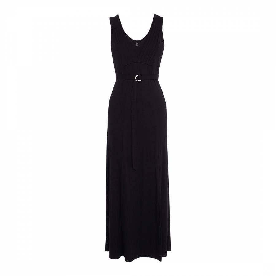 6ceeef04e07 Karen Millen Black Belted Jersey Maxi Dress