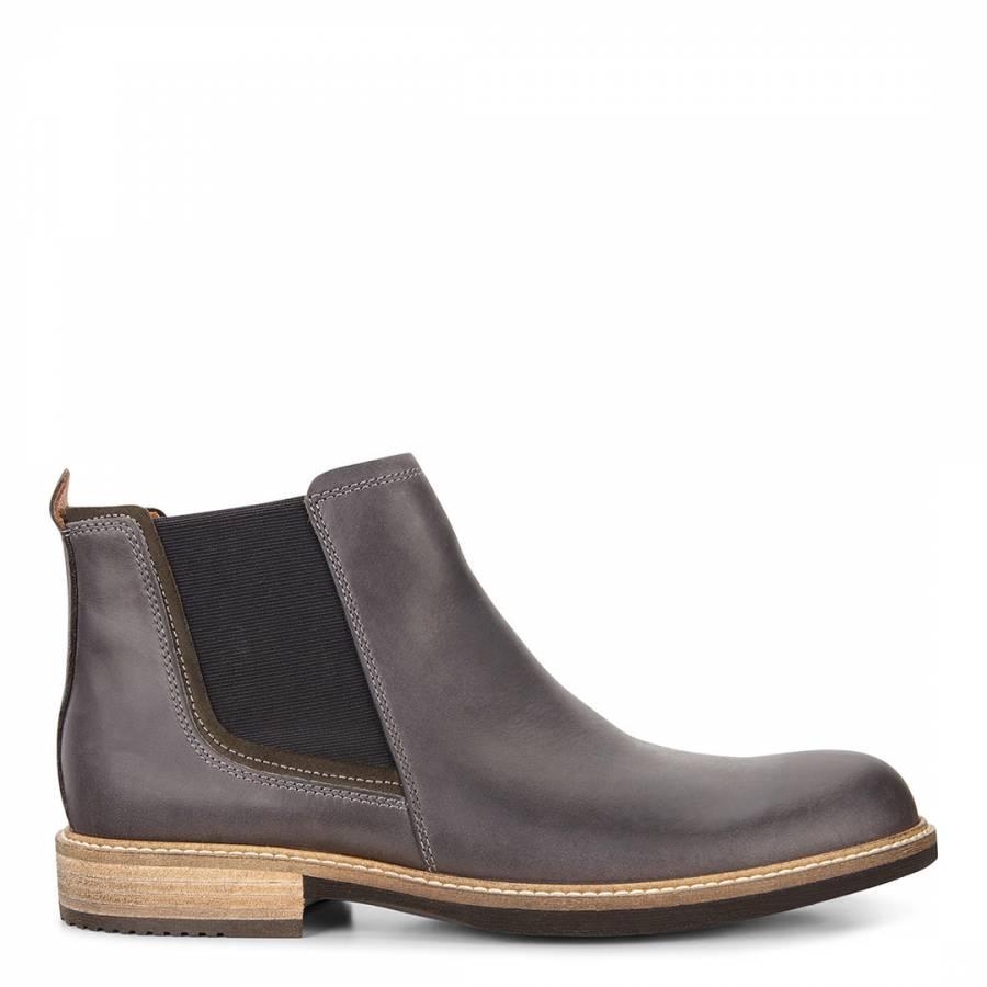 573fb3f9 Dark Grey Leather Kenton Chelsea Boots - BrandAlley