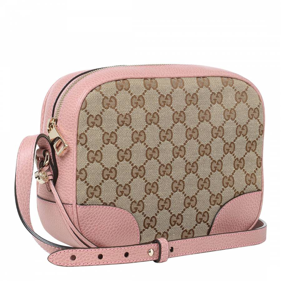 08af2dd6213 Pink   Beige Bree GG Guccissima Leather Crossbody Bag - BrandAlley