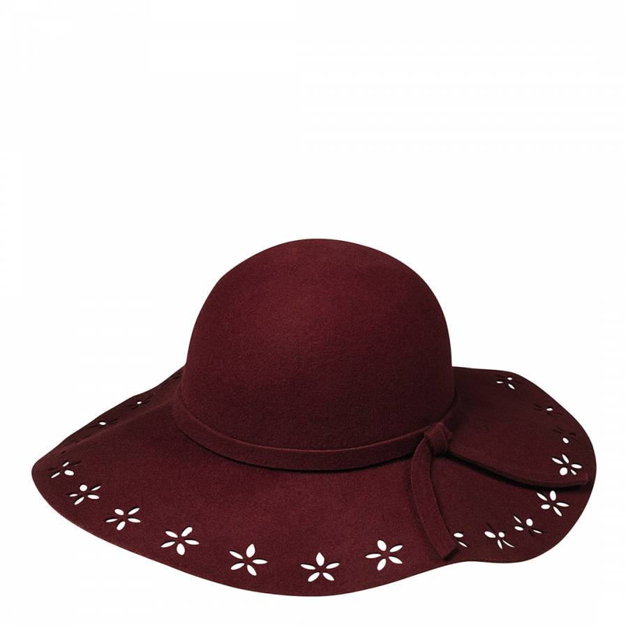 fa4487990ab Burgundy Cutout Detail Floppy Hat - BrandAlley