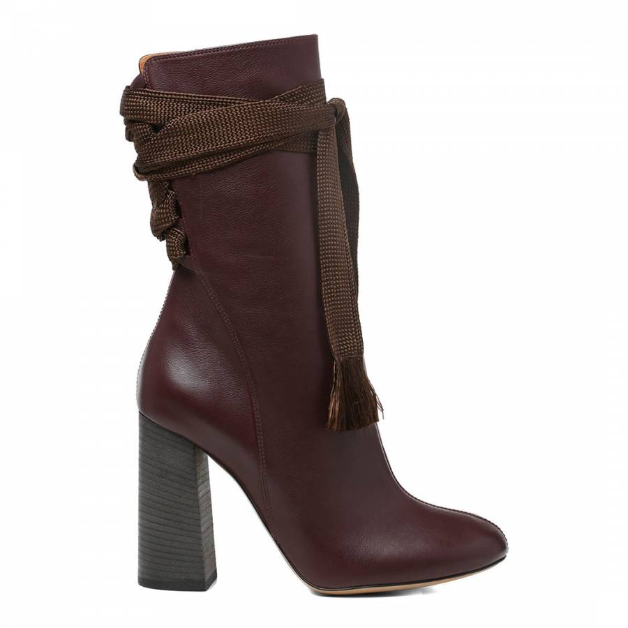 eb0ef6c0 Deep Purple Leather Harper Ankle Boots - BrandAlley